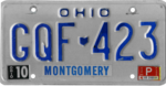 Ohio license plate, 1980–1984 series with October 1985 sticker.png