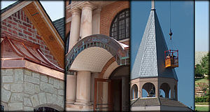English: example of various architectural roof...