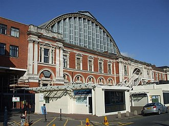 British Union of Fascists - The Olympia Exhibition Centre in London, site of the party's 1934 rally sometimes cited as the beginning of the movement's decline.