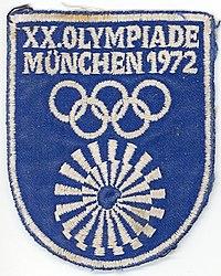 6aaeb4ca8 Olympische Sommerspiele 1972 - Aufnäher.jpg. Naszywka z godłem spirali