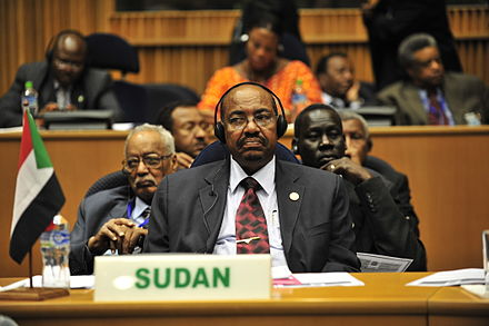The ICC issued an arrest warrant for Omar al-Bashir of Sudan over alleged war crimes in Darfur. Omar al-Bashir, 12th AU Summit, 090131-N-0506A-347.jpg