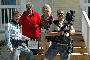 Sandy Rosenthal -  On set in the Lower Ninth Ward, Rosenthal oversees filming of a Public Service Announcement on May 17, 2008