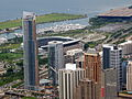One Museum Park from Sears Tower.JPG