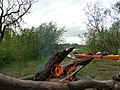 One hell of a camp fire on the River Murray, South Australia - panoramio.jpg