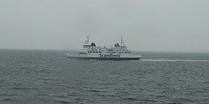 HH Ferry route - One of Scandline's three sister ferries, they never turn and hence lack natural bow and stern.