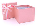 Open Pink Gifft Box with White Ribbon.JPG