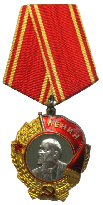 Order of Lenin - Order of Lenin, Type 4 awarded from 1943 to 1991