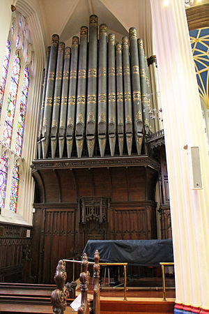 Church music in Scotland - The pipe organ at the Episcopalian Cathedral of St Mary in Edinburgh