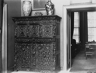 Ornately decorated cabinet