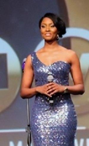 Osas Ighodaro - Ighodaro co-hosting the Africa Magic Viewers Choice Awards in Lagos (2014)