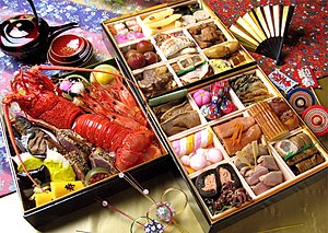 Japanese cuisine - Osechi, new year special dishes in three-tiered box