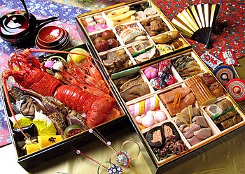 Another example of Osechi in three-tiered box