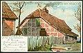 Otto Pilzecker H. Otto Gruss aus Hannover 1898 Auesseres Stadtgebiet. Letzter Kosaken-Sitz an der Weide No. 1 Bildseite.jpg
