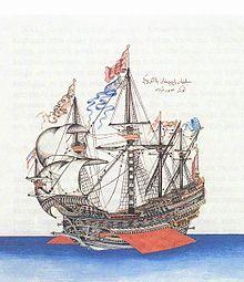 Miniatura raffigurante un galeone ottomano