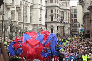 Our Greatest Team Parade - Image: Our Greatest Team Parade Lion close up near Aldwych 1