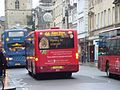 Oxford Bus Company and Arriva Shires buses, High Street, Oxford, England.jpg