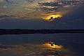 Päikeseloojang Uljaste järvel.jpg