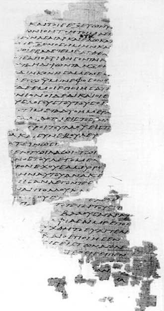 Papyrus 45 - Matthew 25:41-46 in Papyrus 45