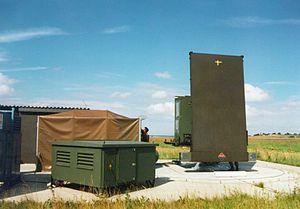 Precision approach radar - Precision approach radar PAR-80 on a military airfield in Germany