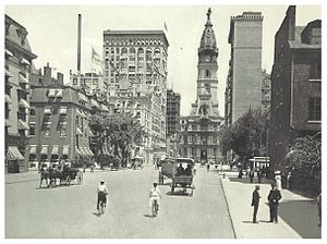 Broad Street (Philadelphia) - South Broad Street, looking towards City Hall (c. 1895)