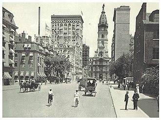 Broad Street (Philadelphia) - South Broad Street, looking towards City Hall (c. 1895)