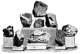 Homestead (meteorite) - Image: PSM V07 D609 Iowa county meteorites
