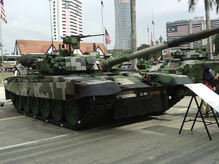 Malaysian Army PT 91M MBT on display - Malaysian Army