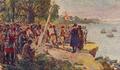 Padrão Erguido pelos Portugueses na Foz do Zaire (Roque Gameiro, Quadros da História de Portugal, 1917).png