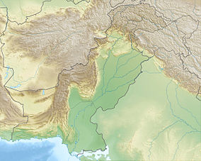 Map showing the location of Lal Suhanra National Parkلال سہانرا نیشنل پارک‎