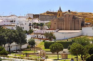 Palos de la Frontera - Panoramic view of downtown Palos de la Frontera