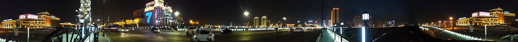 Panorama Hailar.Hailar river by night.jpg
