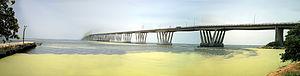 General Rafael Urdaneta Bridge - Image: Panoramica del Puente sobre el Lago de Maracaibo