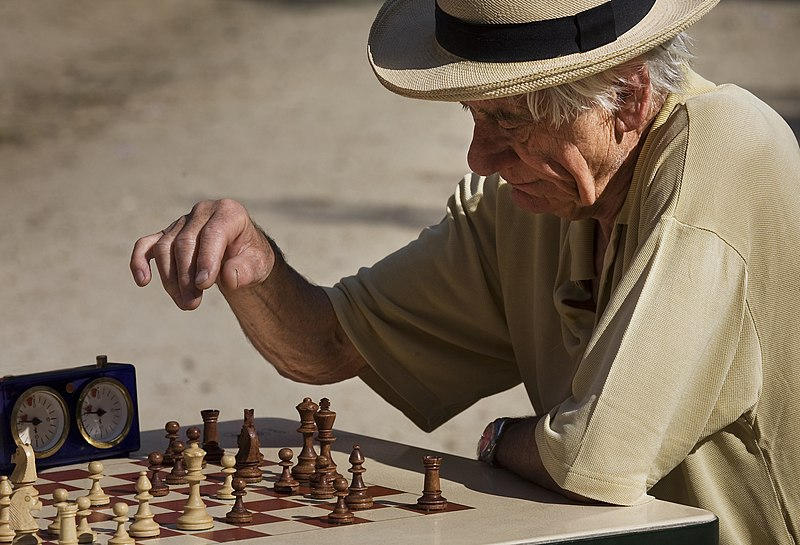 image of Paris - Playing chess at the Jardins du Luxembourg - 2966