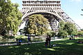 Paris 75007 Champ-de-Mars - pond and Eiffel Tower arches 2014-10-05.jpg
