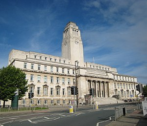 University of Leeds - The Parkinson Building, named after Frank Parkinson, a major benefactor to the university