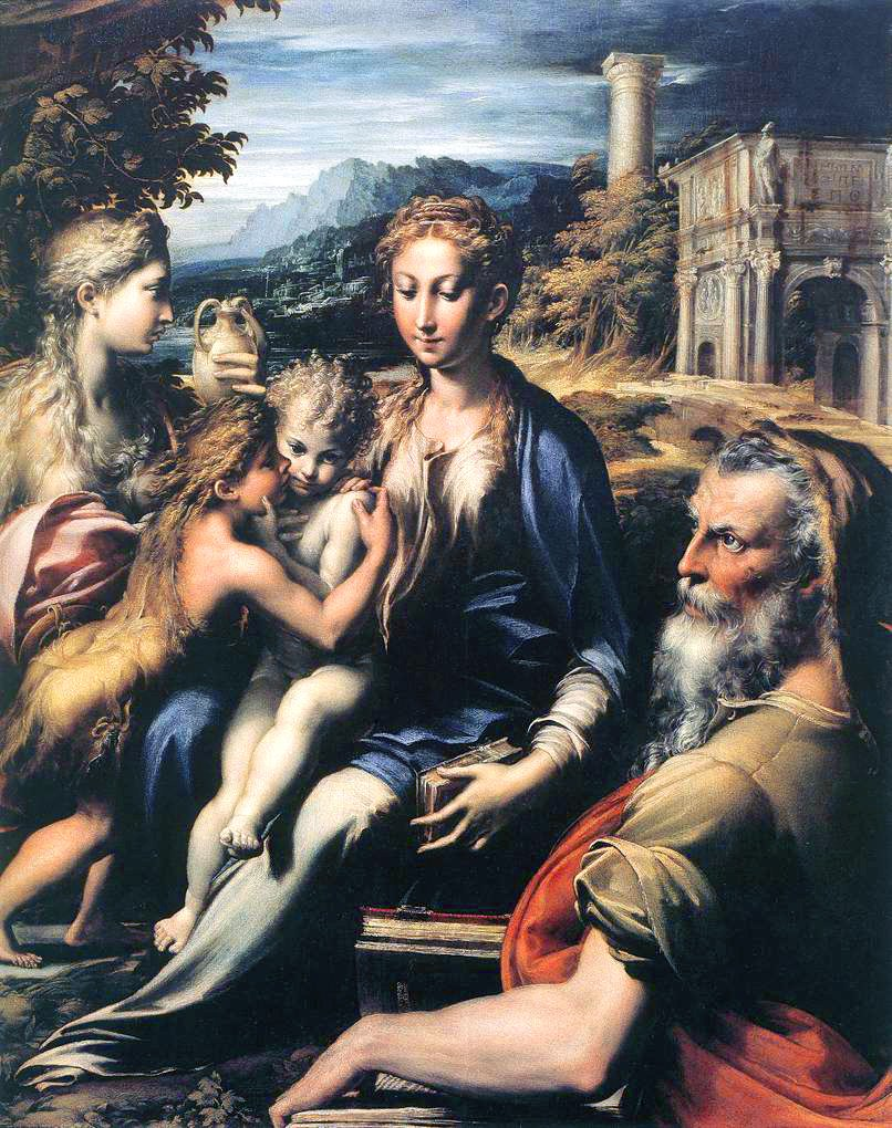 Parmigianino - Madonna with saints - Web Gallery of Art B