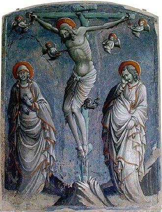 Parri Spinelli - Christ on the Cross With the Virgin and Saint John by Parri Spinelli, 1445