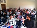 Participants at Wikipedia session.JPG