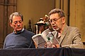 Paul Auster and Pete Hamill reading from his upcoming book The Christmas Kid (8024220332).jpg