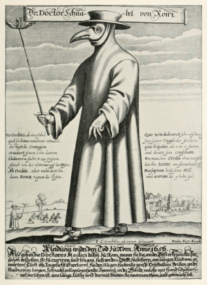 Plague doctor costume - Image: Paul Fürst, Der Doctor Schnabel von Rom (Holländer version)