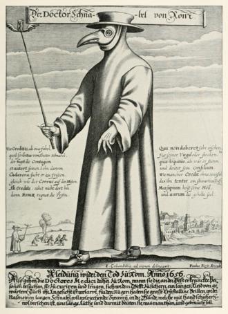 Plague doctor costume - Image: Paul Fürst, Der Doctor Schnabel von Rom (Holländer version)