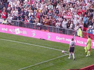 Paul Gascoigne - Gascoigne playing for England during Soccer Aid
