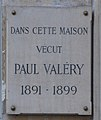 Paul Valèry plaque - 12, rue Gay Lussac, Paris 5.jpg