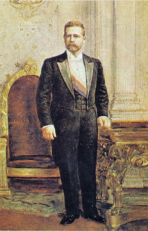 Germán Riesco - Portrait by Cosme San Martín
