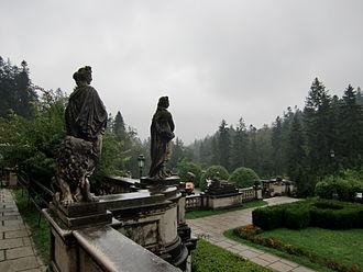 Peleș Castle - Garden of Peleș Castle