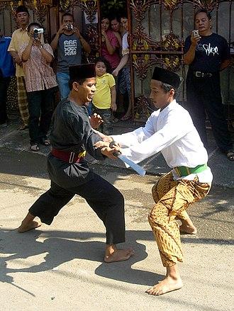 Pencak Silat - Disarming a golok