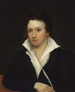 Percy Bysshe Shelley en un quadro de Alfred Clint en 1819