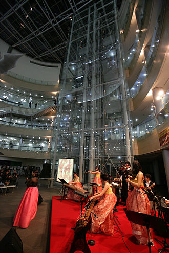 Pohang University of Science and Technology - Traditional Korean performance at Tae-Joon Park Library