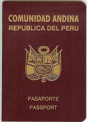 Andean passport - Image: Peru passport