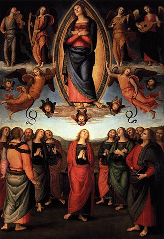 Annunziata Polyptych - The Assumption of the Virgin.